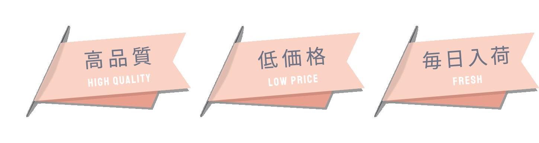 高品質・低価格・毎日入荷