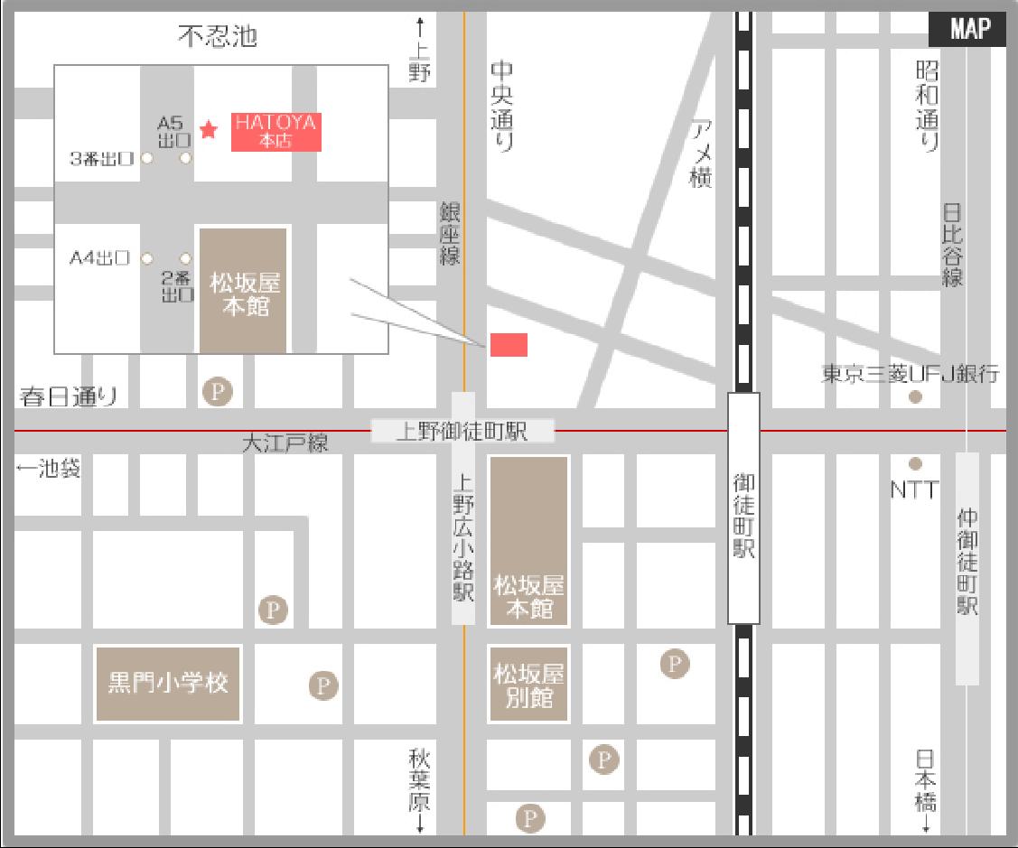 ハトヤ本店地図