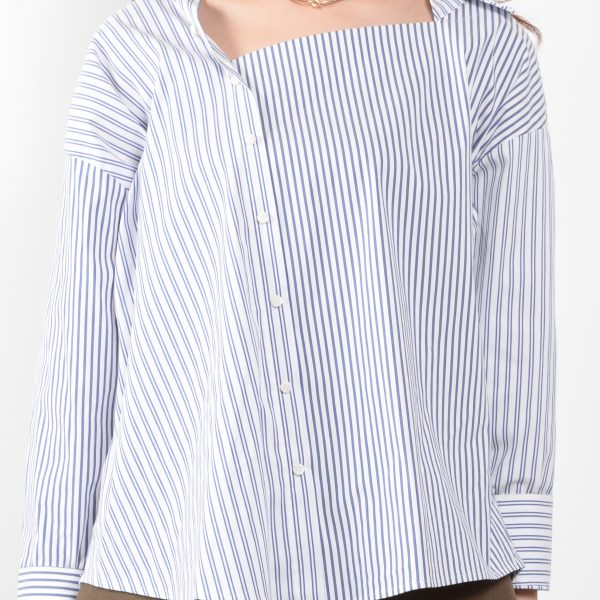:ストライプデザインシャツ