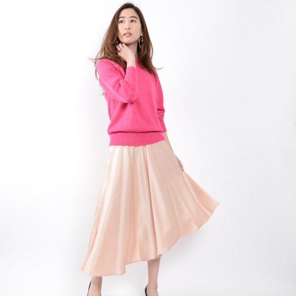 SKIRT:サテンフレアスカート