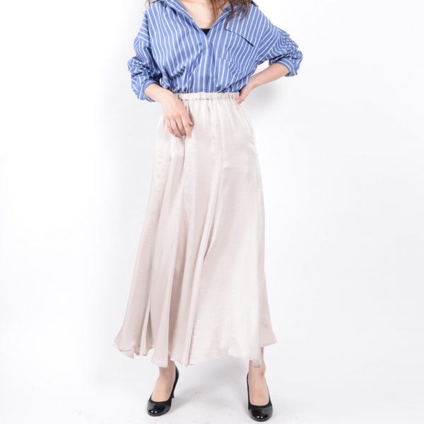 PANTS:サテンロングスカート
