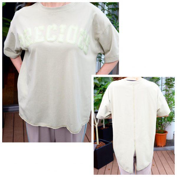 TOPS:オーバーsizeTシャツ(グリーン)