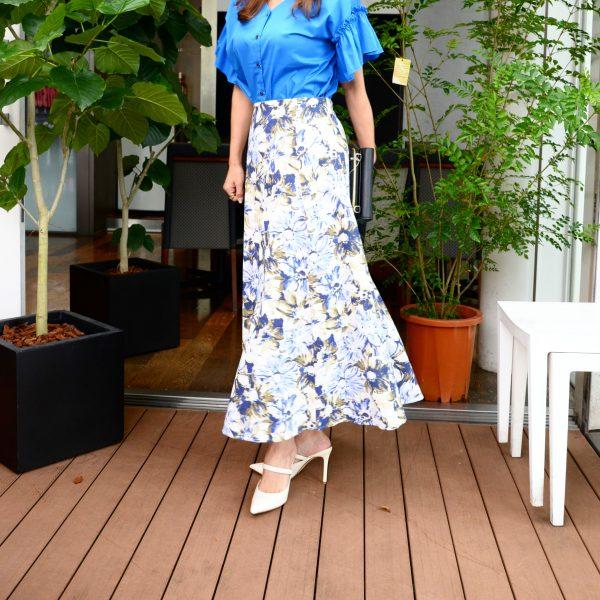 SKIRT:花柄ロングスカート