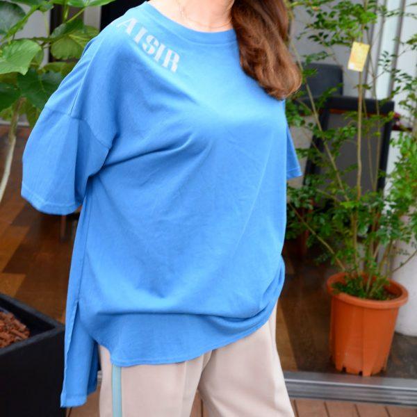 TOPS:オーバーsizeTシャツ(ブルー)