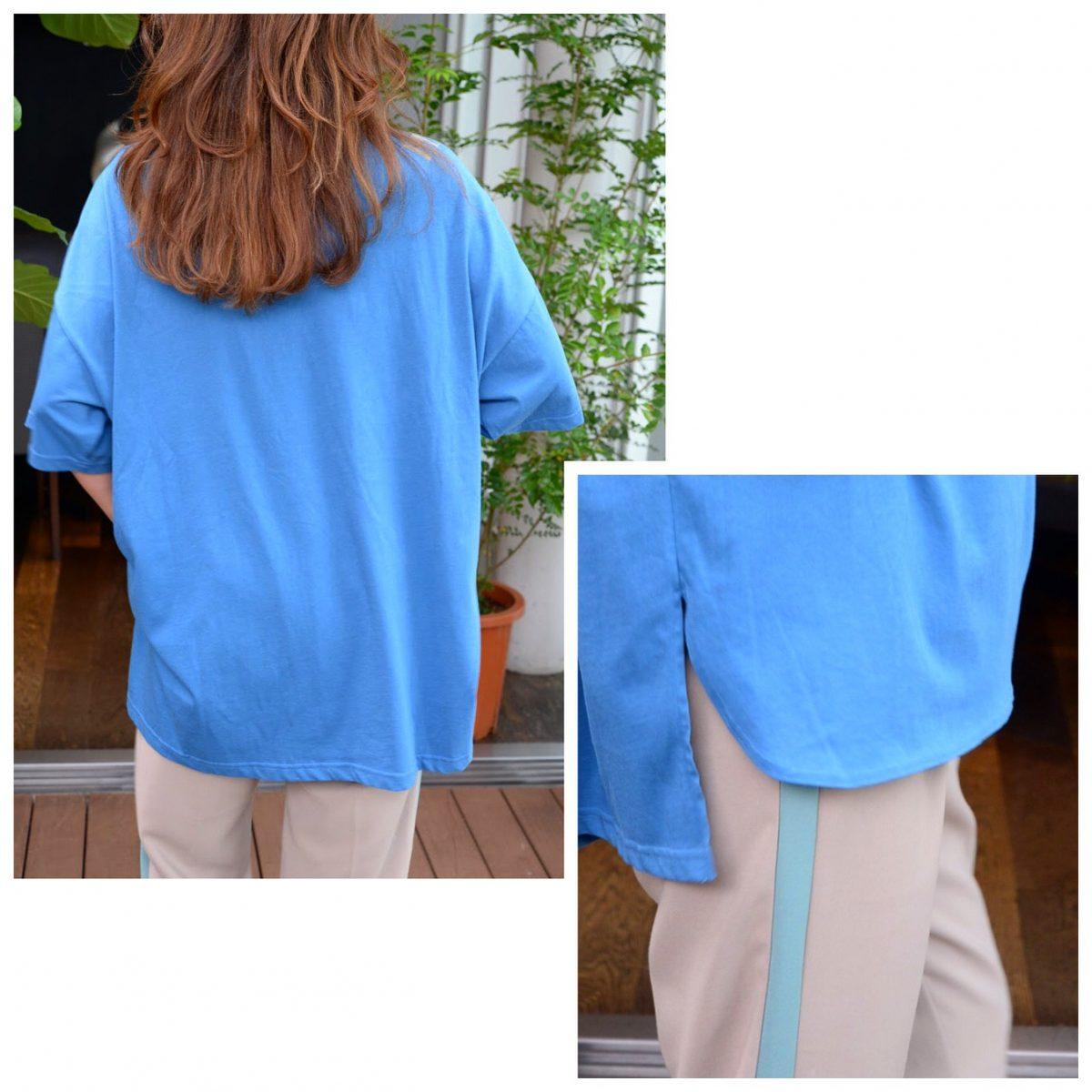 :オーバーsizeTシャツ(ブルー)
