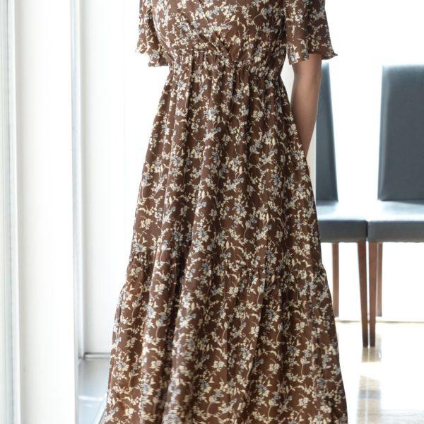 DRESS:フラワープリントワンピ
