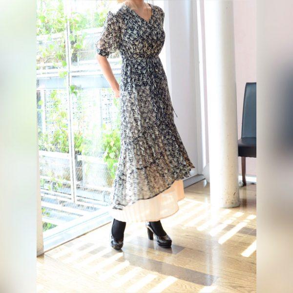 DRESS:シアープリントワンピース