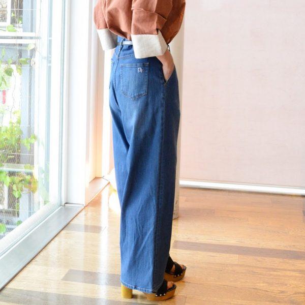 PANTS:デニムワイドパンツ