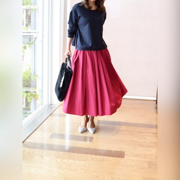 SKIRT:ナイロンギャザースカート