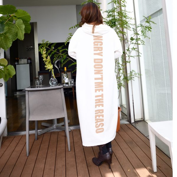 OUTER:インポートパーカーワンピ