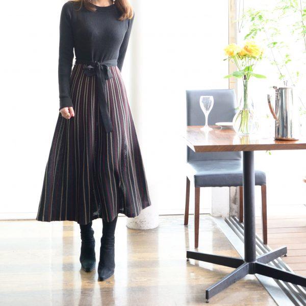 DRESS:ニットワンピース