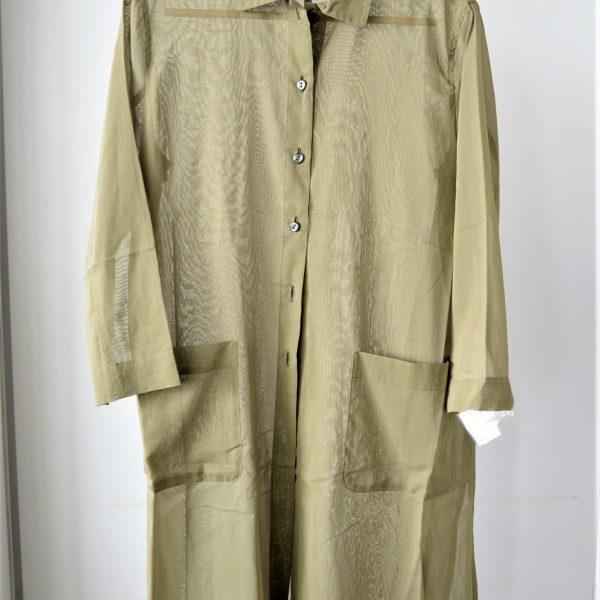 TOPS:ロング丈シアーシャツ